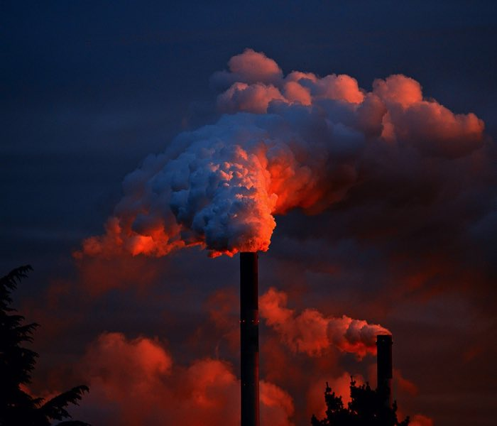 CO2 uitstoot fabrieken