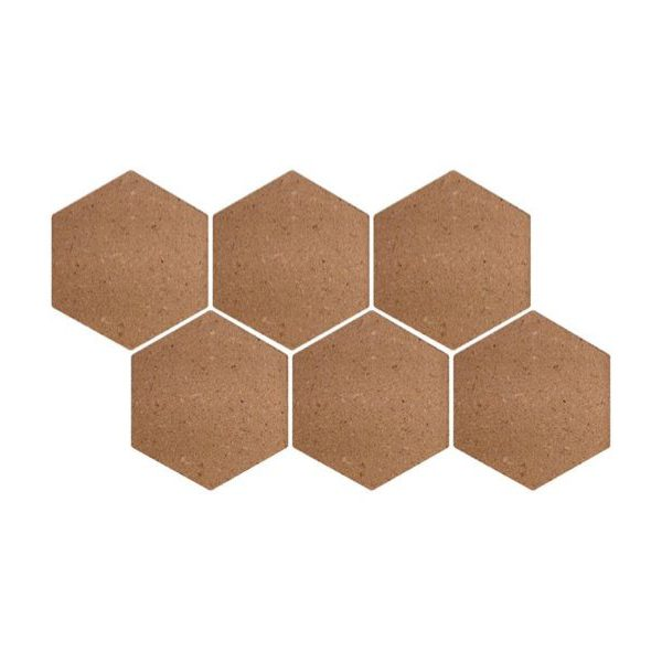 Kurkprikbord zeshoek hexagon